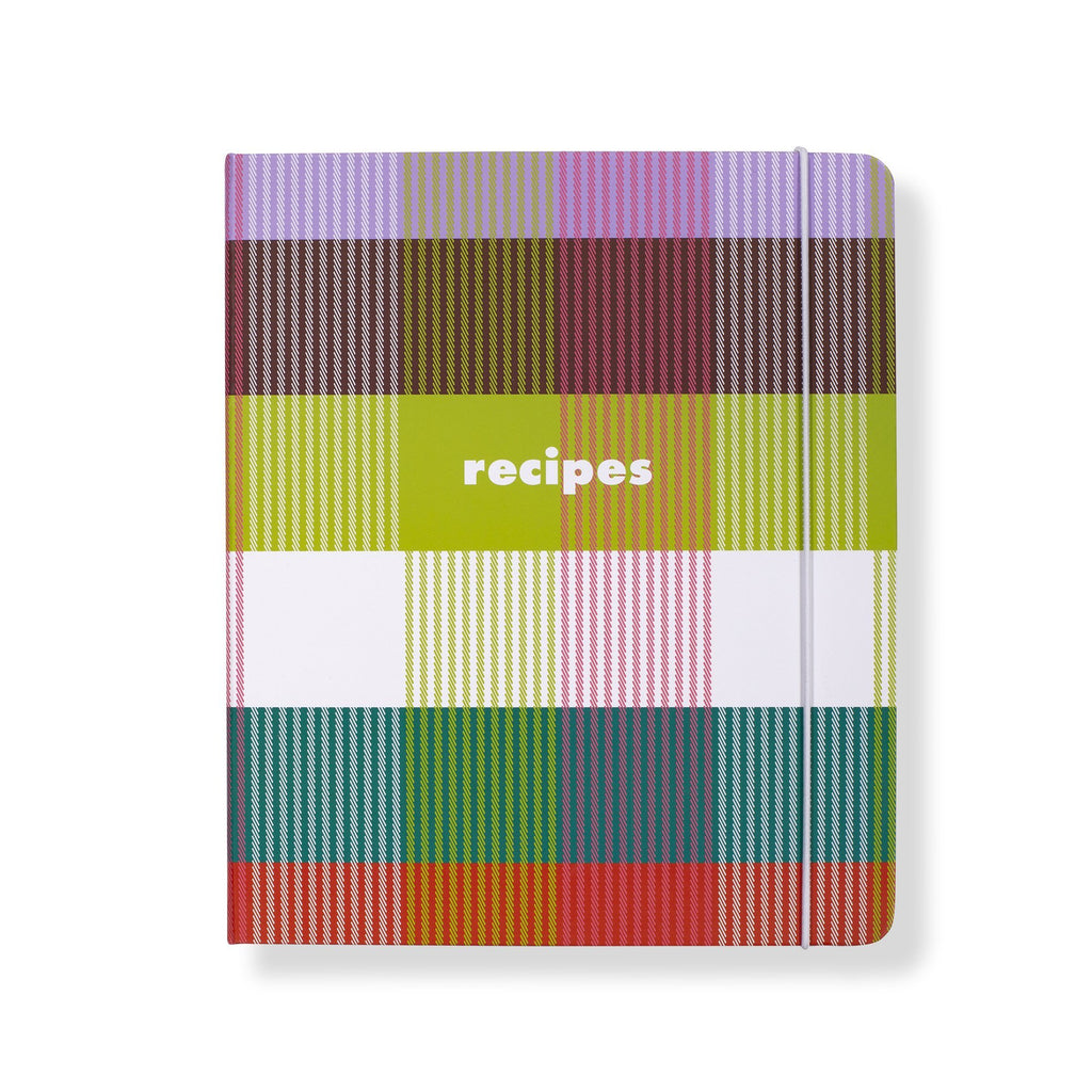 kate spade new york recipe book, rainbow plaid