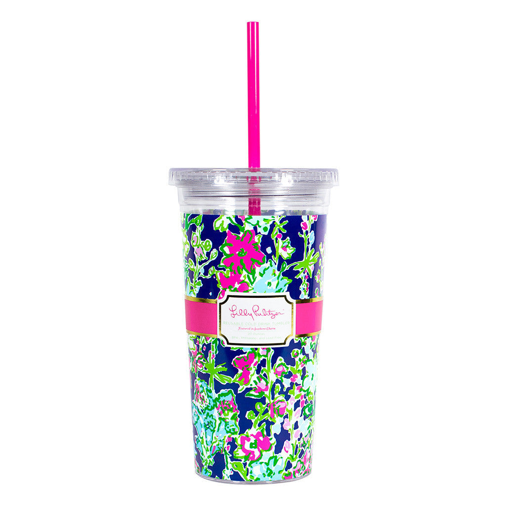 Lilly Pulitzer Reusable Cold Drink Tumbler - Southern Charm - lifeguard-press - 1