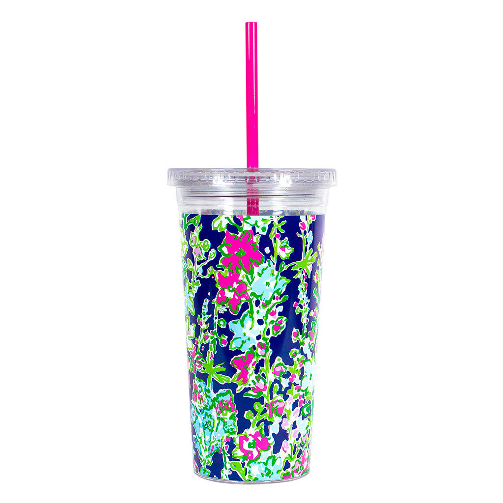 Lilly Pulitzer Reusable Cold Drink Tumbler - Southern Charm - lifeguard-press - 2