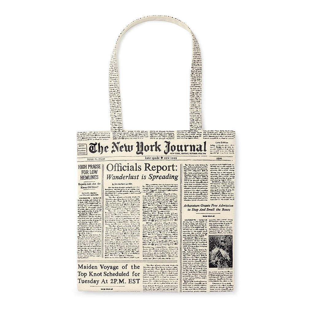 kate spade new york canvas tote - make headlines - lifeguard-press - 2