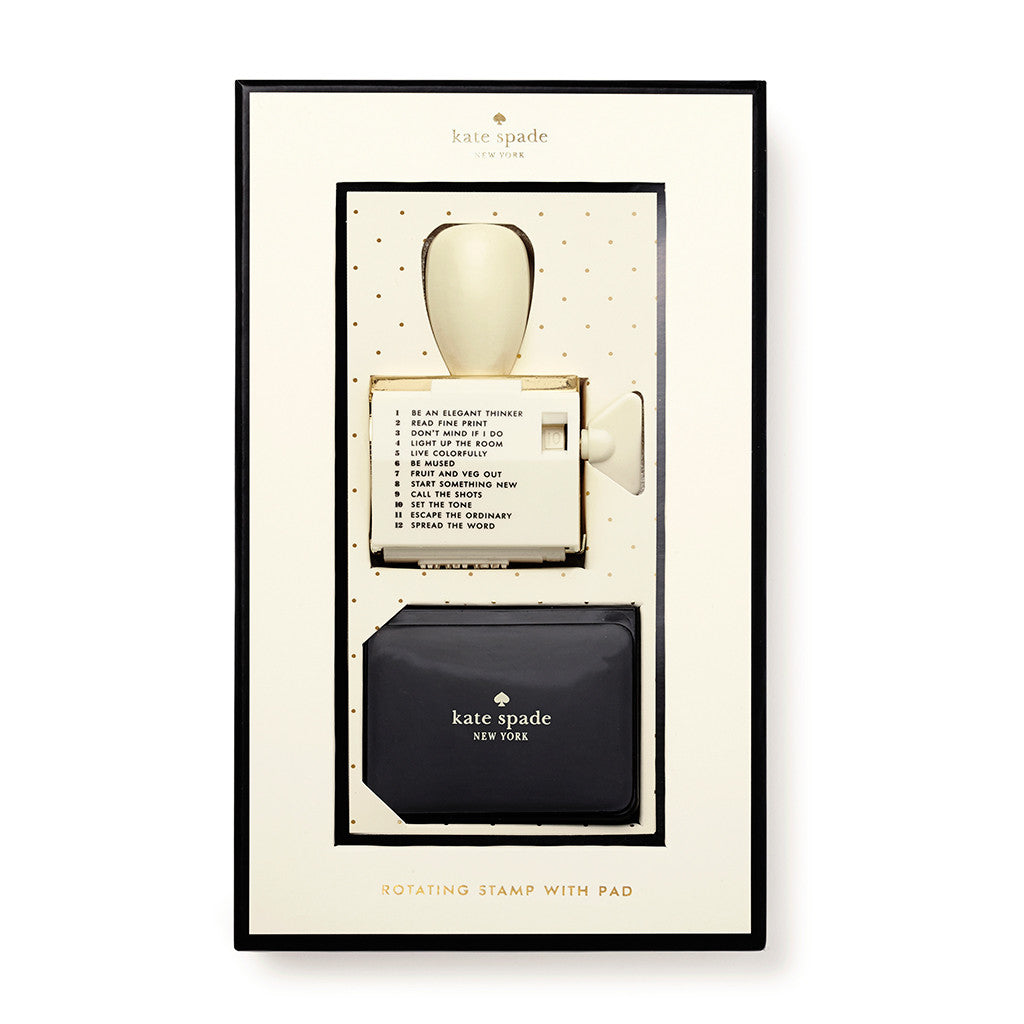 kate spade new york rotating stamp & ink set - escape the ordinary - lifeguard-press