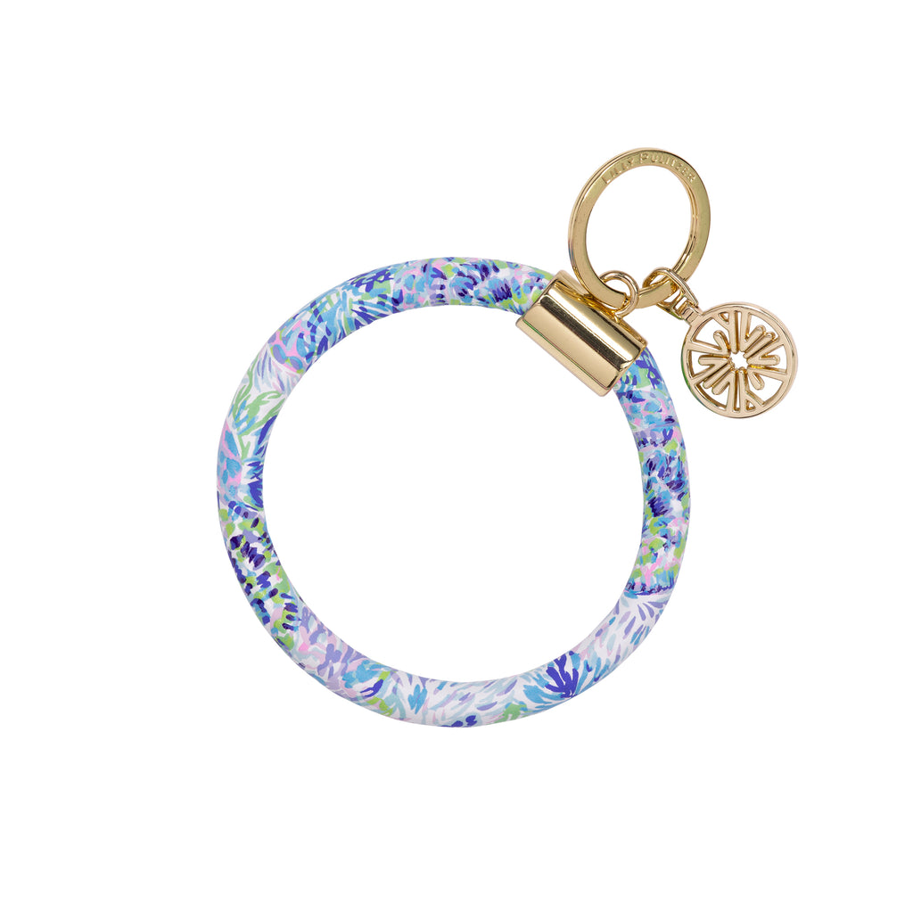 Lilly Pullitzer Round Keychain, Shell of a Party