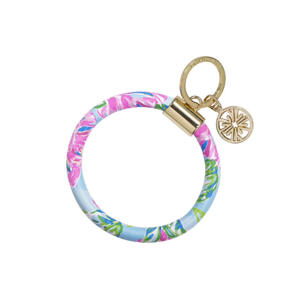 Lilly Pullitzer Round Keychain, Totally Blossom