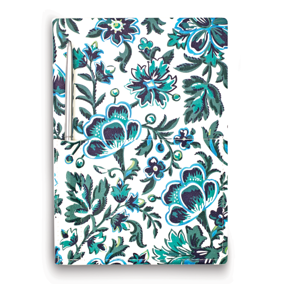 vera bradley journal with pocket, cloud vine