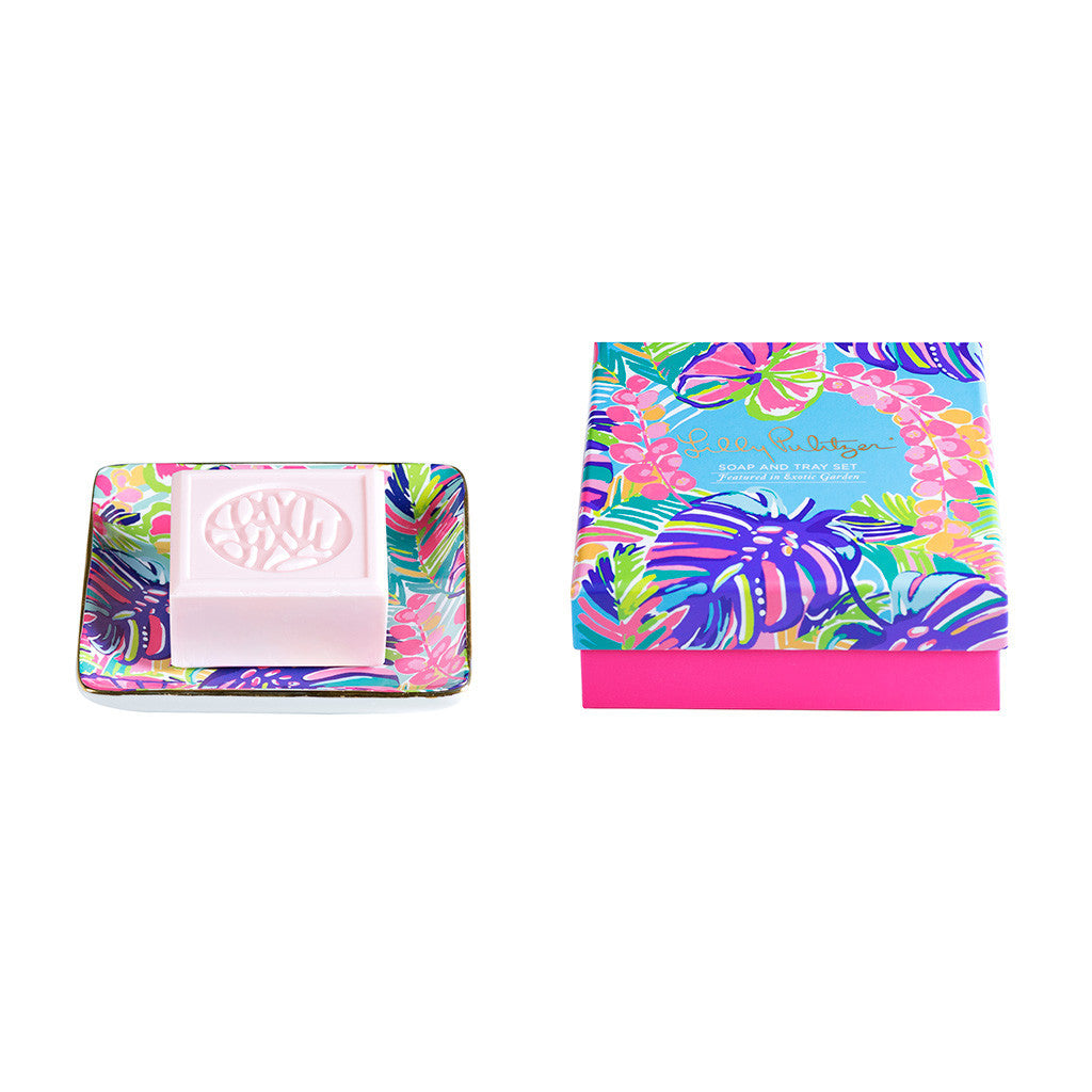 Lilly Pulitzer Soap & Tray Set - Exotic Garden - lifeguard-press - 1