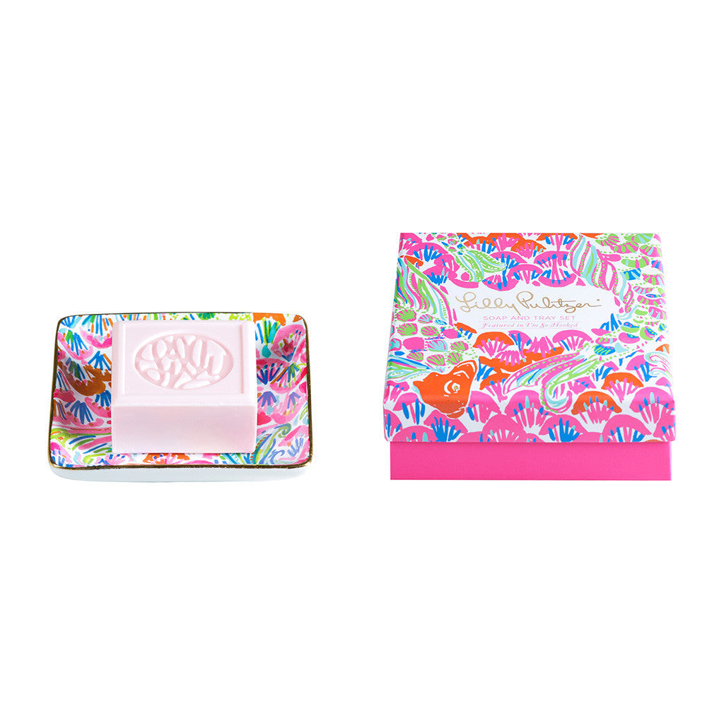Lilly Pulitzer Soap & Tray Set - I'm So Hooked - lifeguard-press - 1