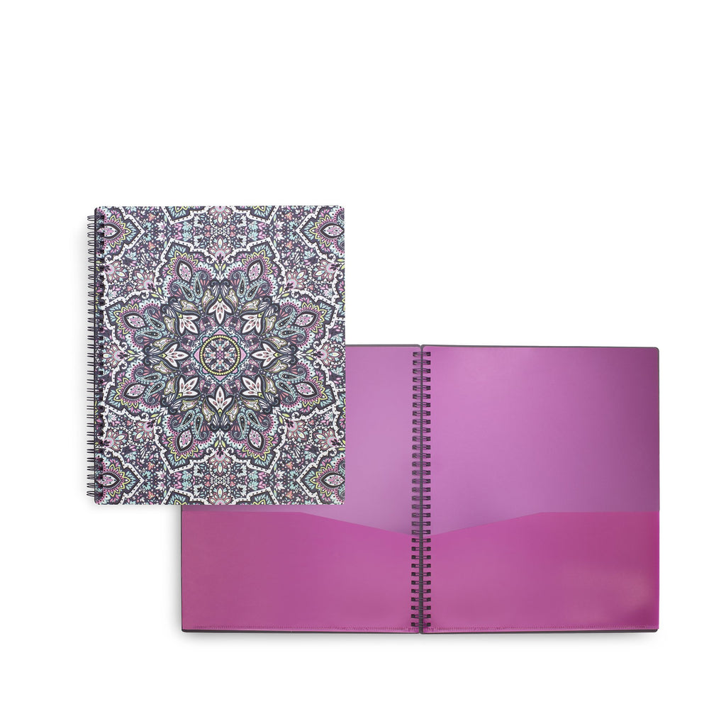 Vera Bradley Spiral Pocket Folder, Bonbon Medallion