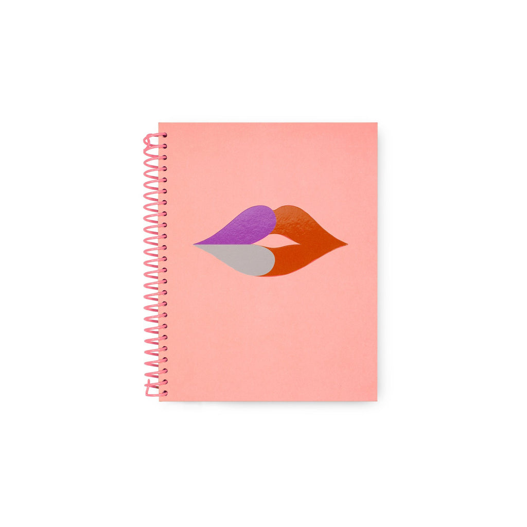 kate spade new york spiral notebook, heart lips