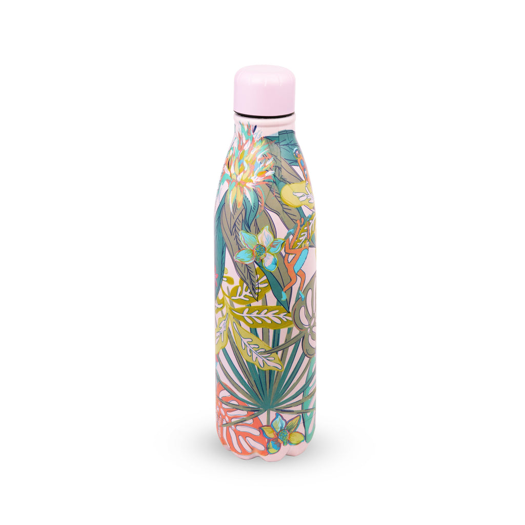 Vera Bradley Stainless Steel Water Bottle, Rain Forest Fauna