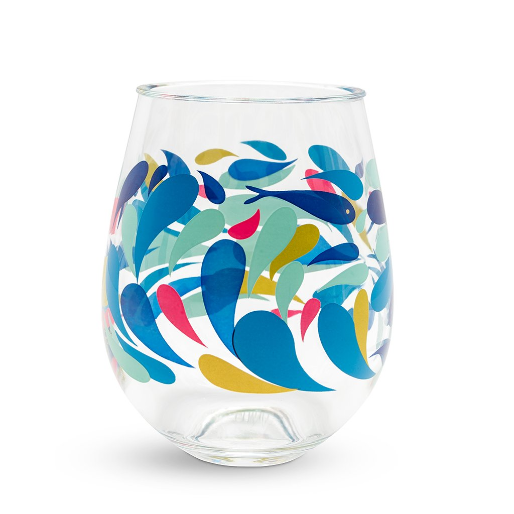 Vera Bradley Stemless Wineglass Set - Summer Play