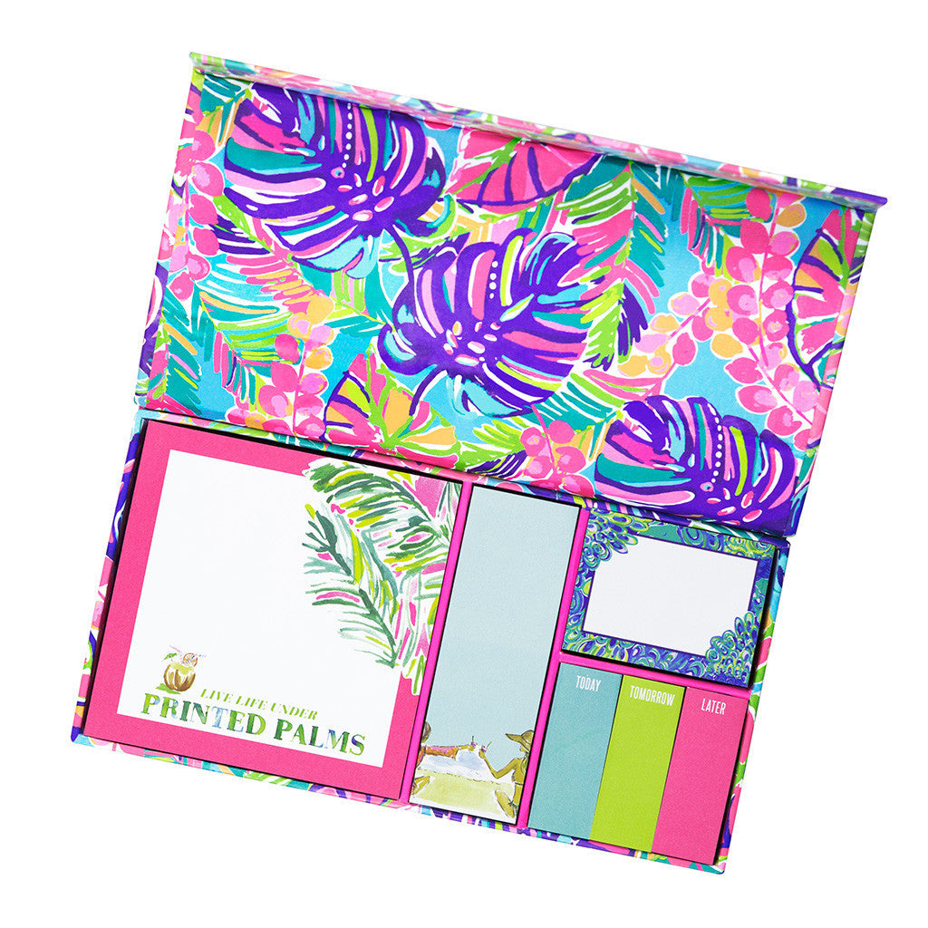 Lilly Pulitzer Sticky Note Set - Exotic Garden - lifeguard-press - 1