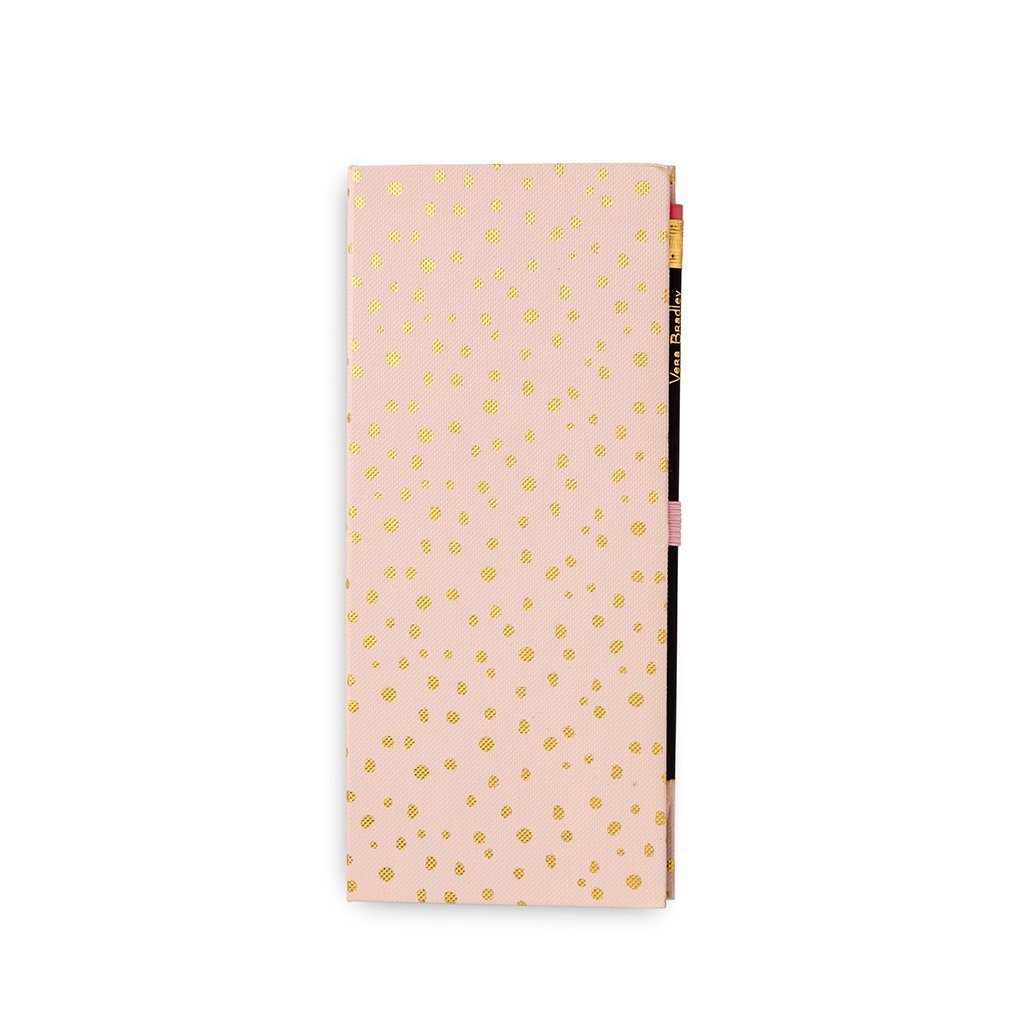 Vera Bradley Sticky Note Pad Slim Book - Blush Gold Dots
