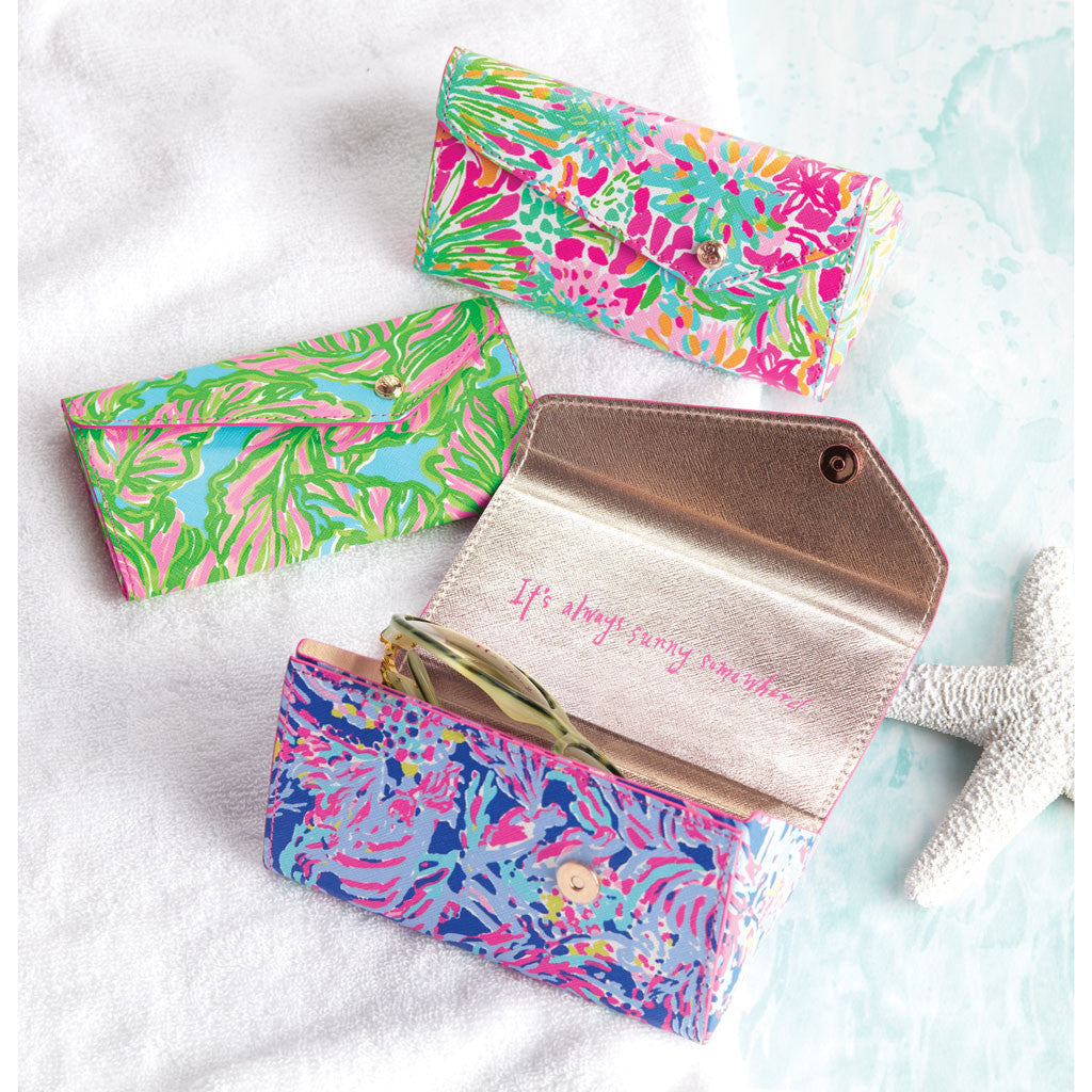 Lilly Pulitzer Sunglass Case - Shrimply Chic - lifeguard-press - 2