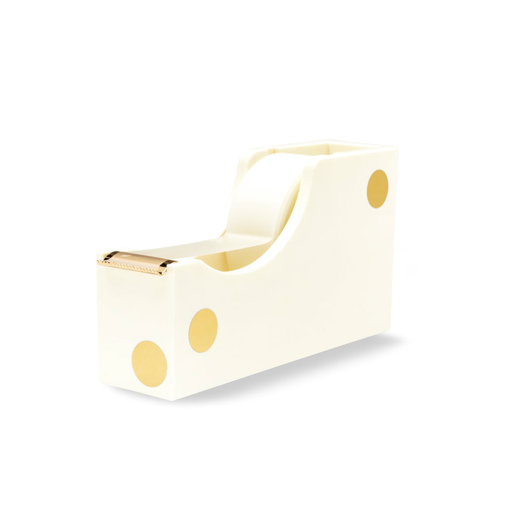 kate spade new york Acrylic Tape Dispenser, Gold Dot