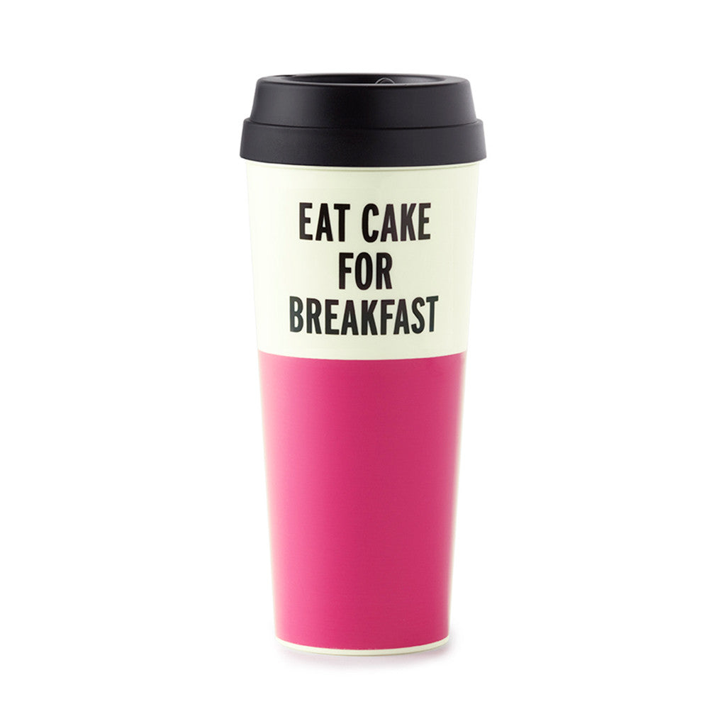 kate spade new york thermal mug - eat cake for breakfast - lifeguard-press