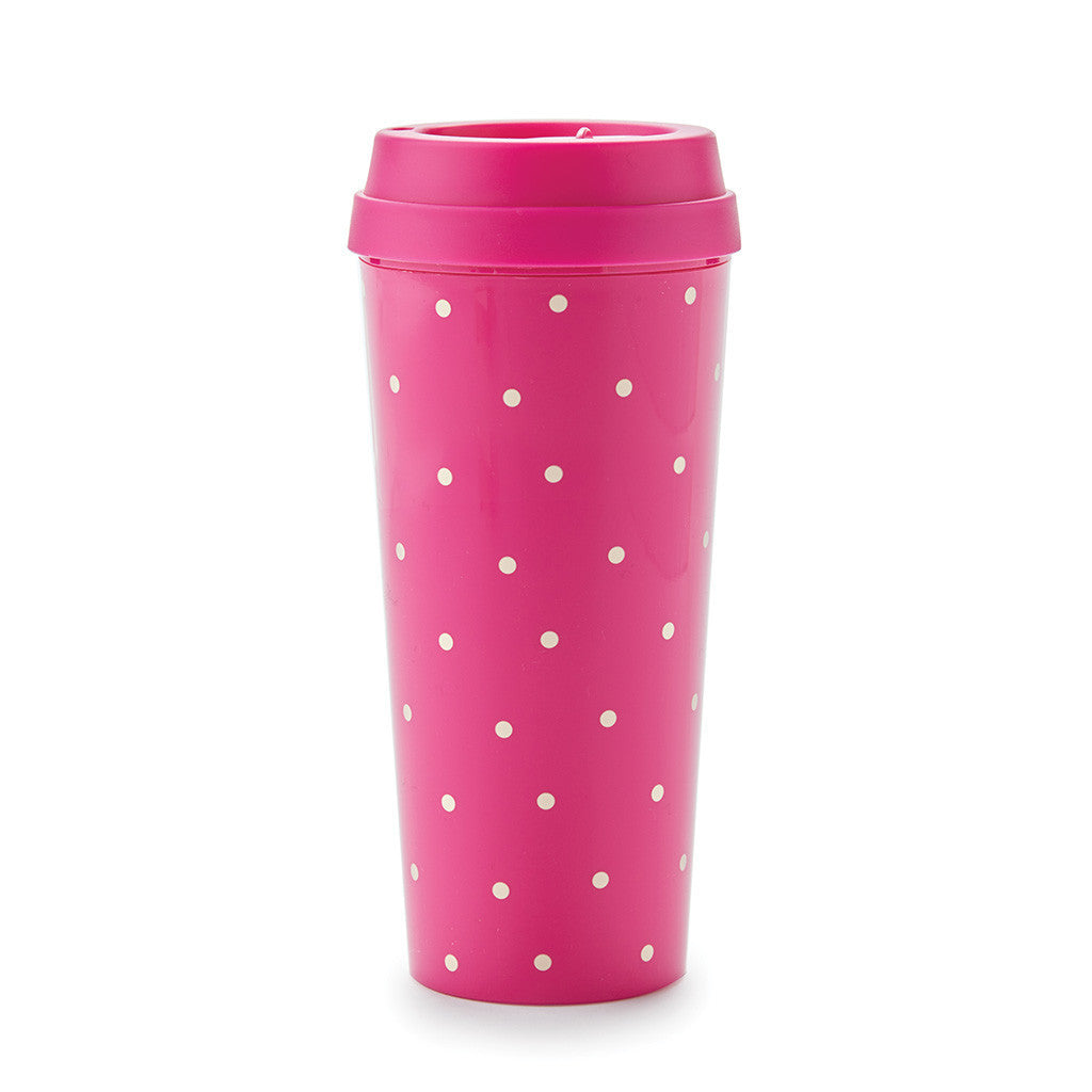 kate spade new york larabee dot pink thermal mug - lifeguard-press