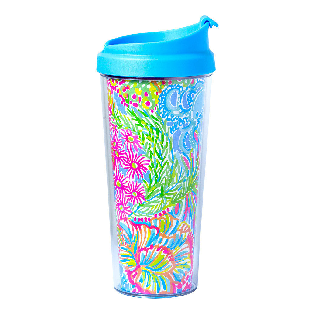 Lilly Pulitzer Thermal Mug - Lover's Coral - lifeguard-press - 1