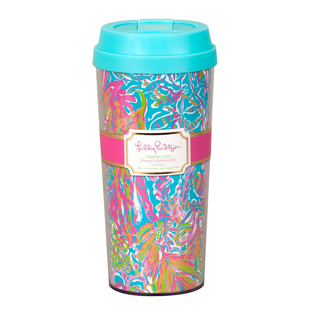 Lilly Pulitzer Thermal Mug - Scuba to Cuba - lifeguard-press