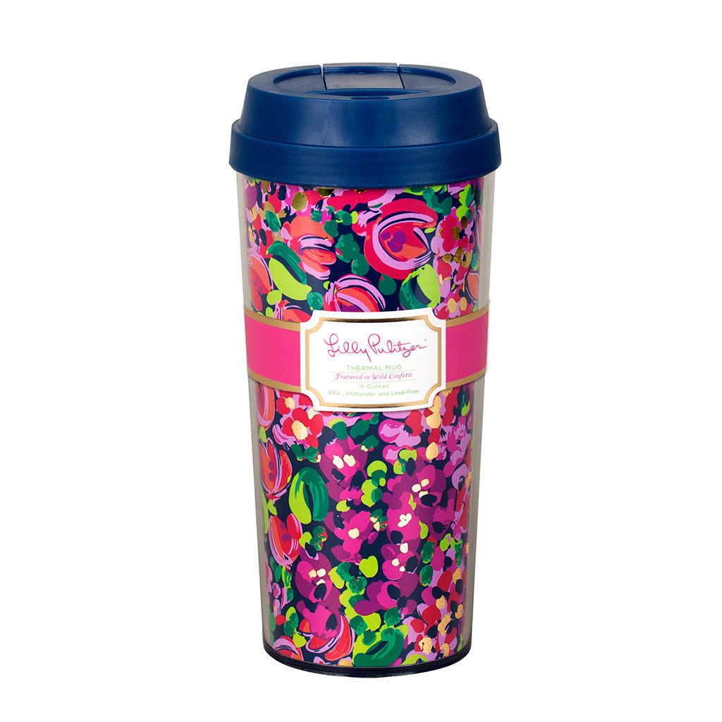 Lilly Pulitzer Thermal Mug - Wild Confetti - lifeguard-press