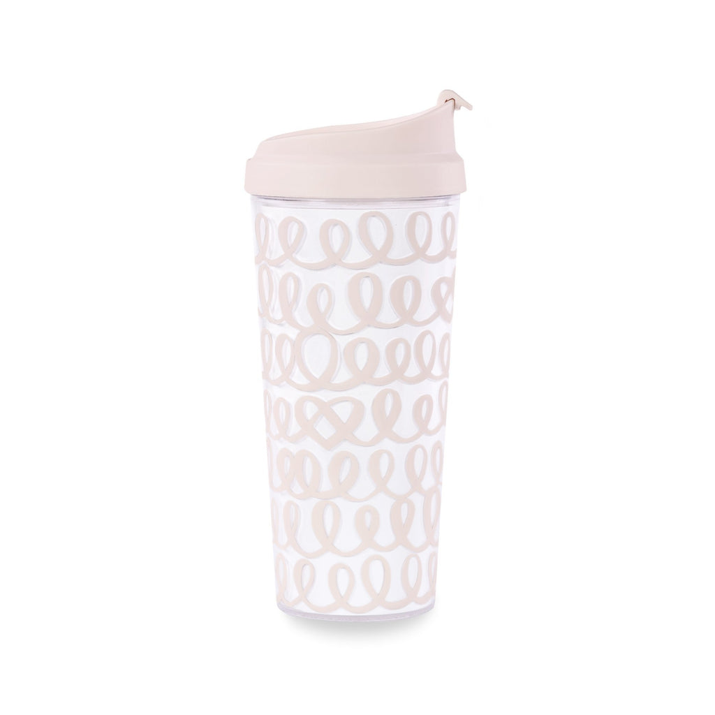 kate spade new york thermal mug, heart knot