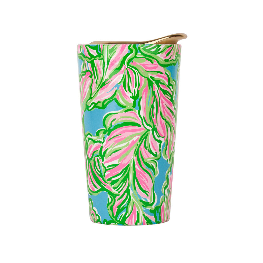 Thermal Mugs - Lilly Pulitzer Travel Mug - In The Bungalows