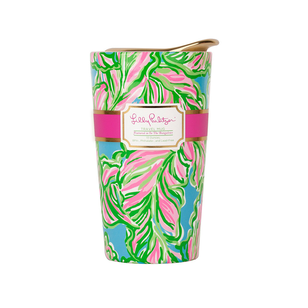 Lilly Pulitzer Travel Mug - In the Bungalows - lifeguard-press