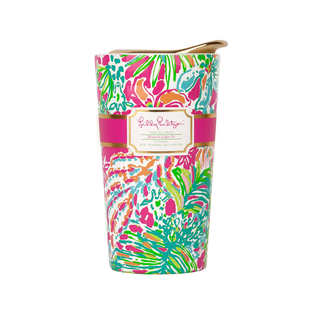 Lilly Pulitzer Travel Mug - Spot Ya - lifeguard-press - 1
