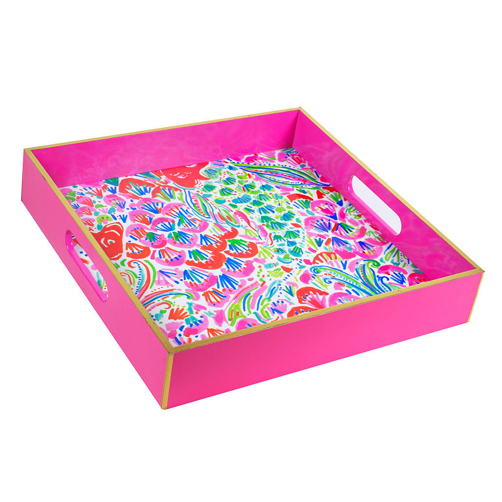 Lilly Pulitzer Lacquer Tray - I'm So Hooked - lifeguard-press - 1
