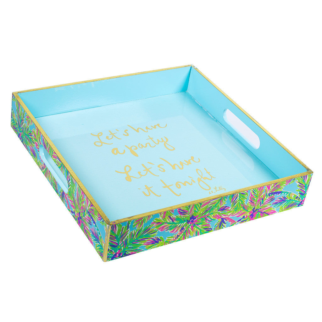 Lilly Pulitzer Lacquer Tray - Island Time - lifeguard-press - 1
