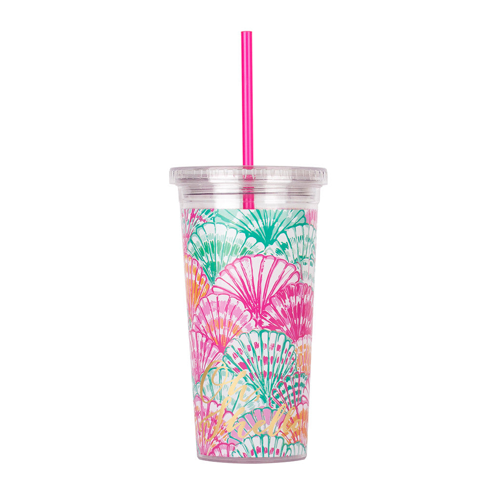 Lilly Pulitzer Reusable Cold Drink Tumbler - Oh Shello - lifeguard-press - 2