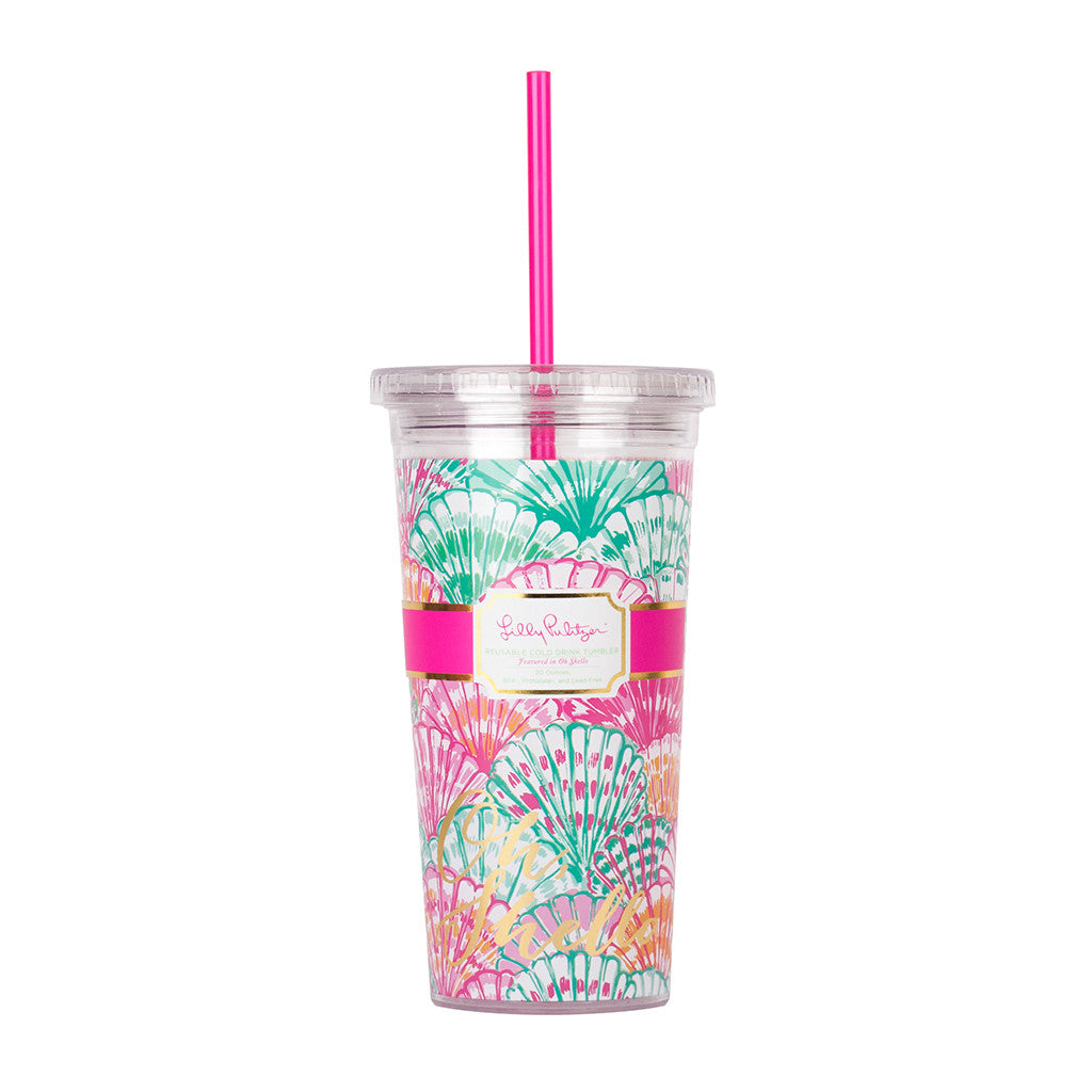 Lilly Pulitzer Reusable Cold Drink Tumbler - Oh Shello - lifeguard-press - 1