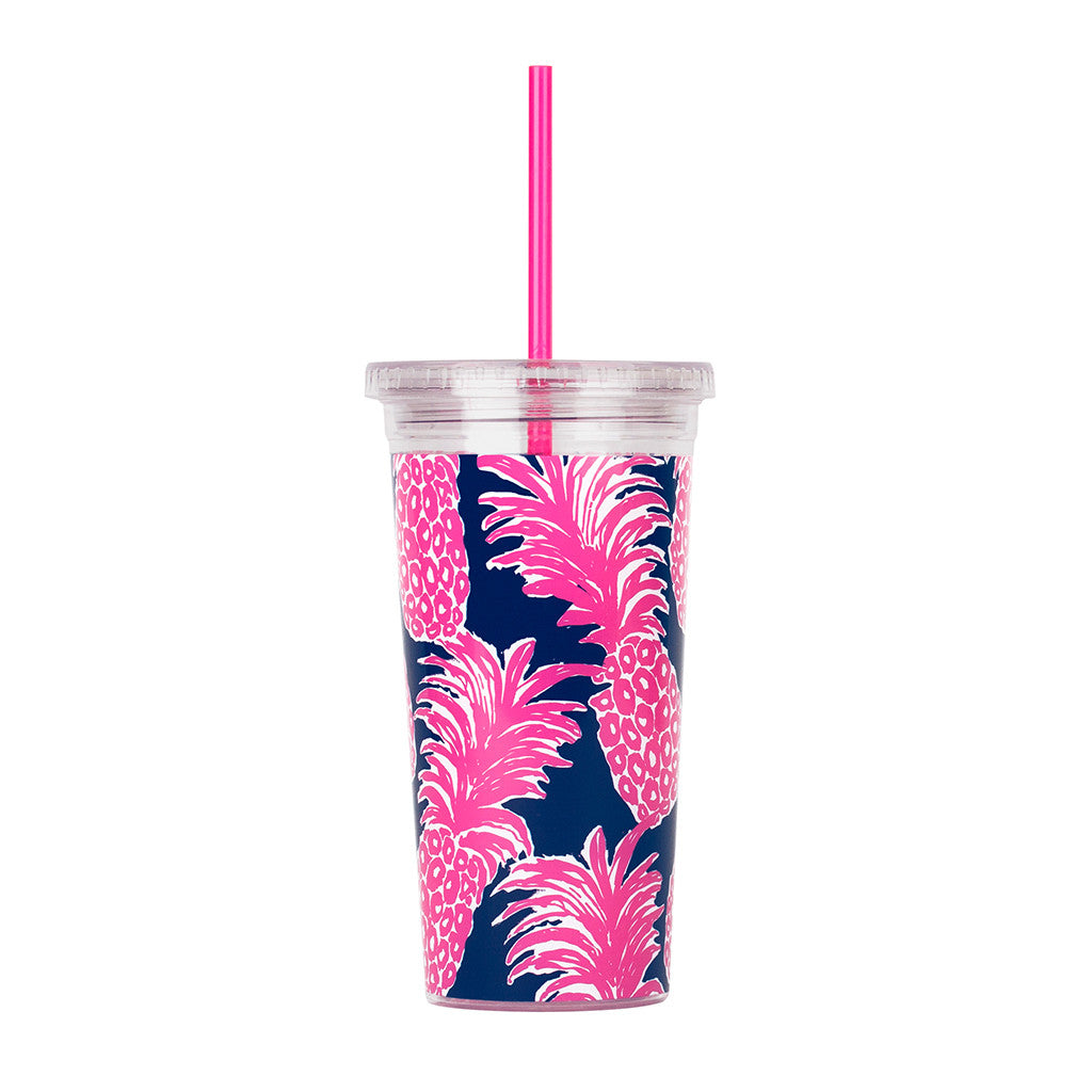 Lilly Pulitzer Reusable Cold Drink Tumbler - Flamenco - lifeguard-press - 2