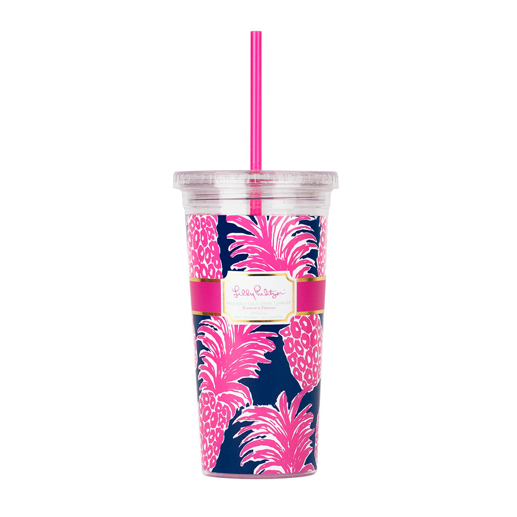 Lilly Pulitzer Reusable Cold Drink Tumbler - Flamenco - lifeguard-press - 1