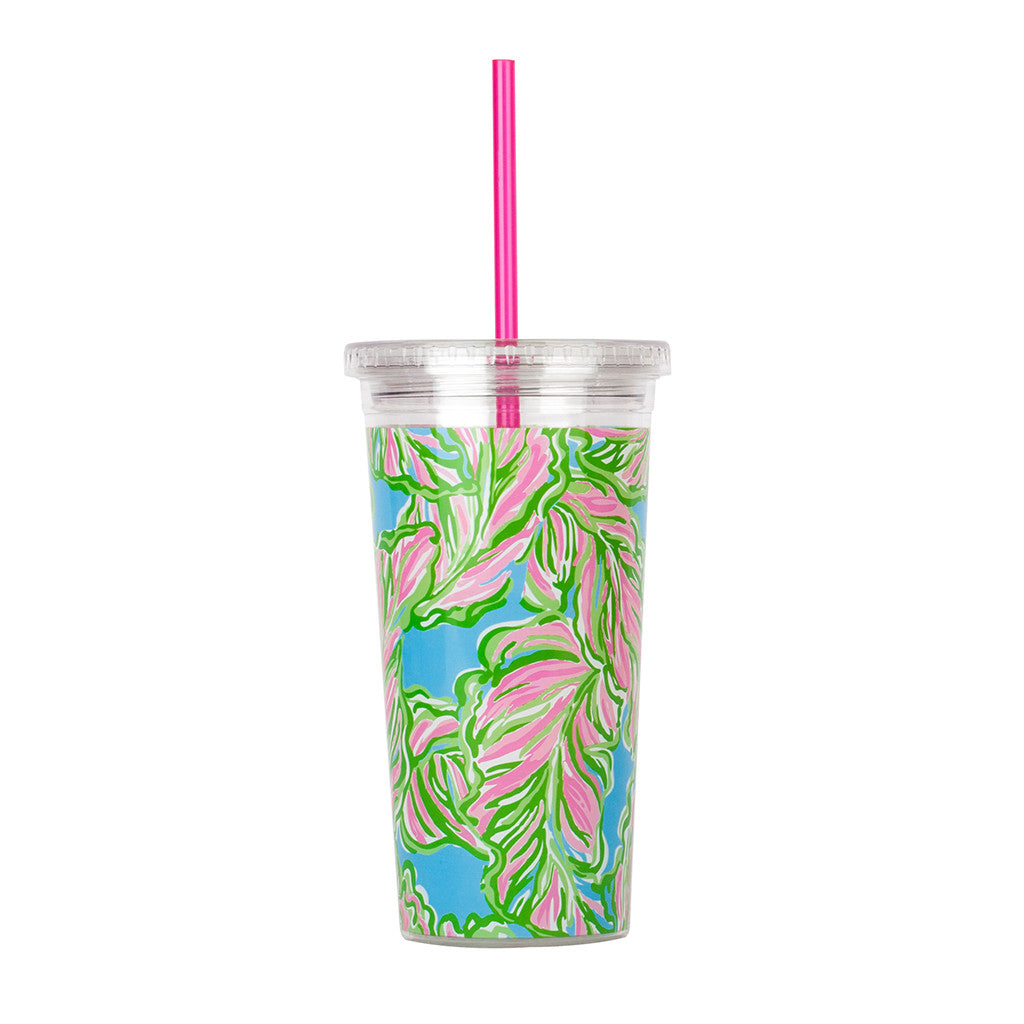 Lilly Pulitzer Reusable Cold Drink Tumbler - In the Bungalows - lifeguard-press - 2