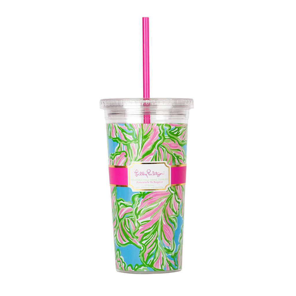 Lilly Pulitzer Reusable Cold Drink Tumbler - In the Bungalows - lifeguard-press - 1