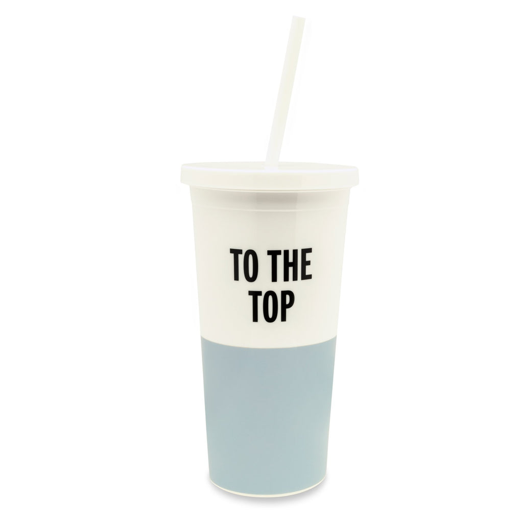 kate spade new york Tumbler With Straw, To The Top - Blue