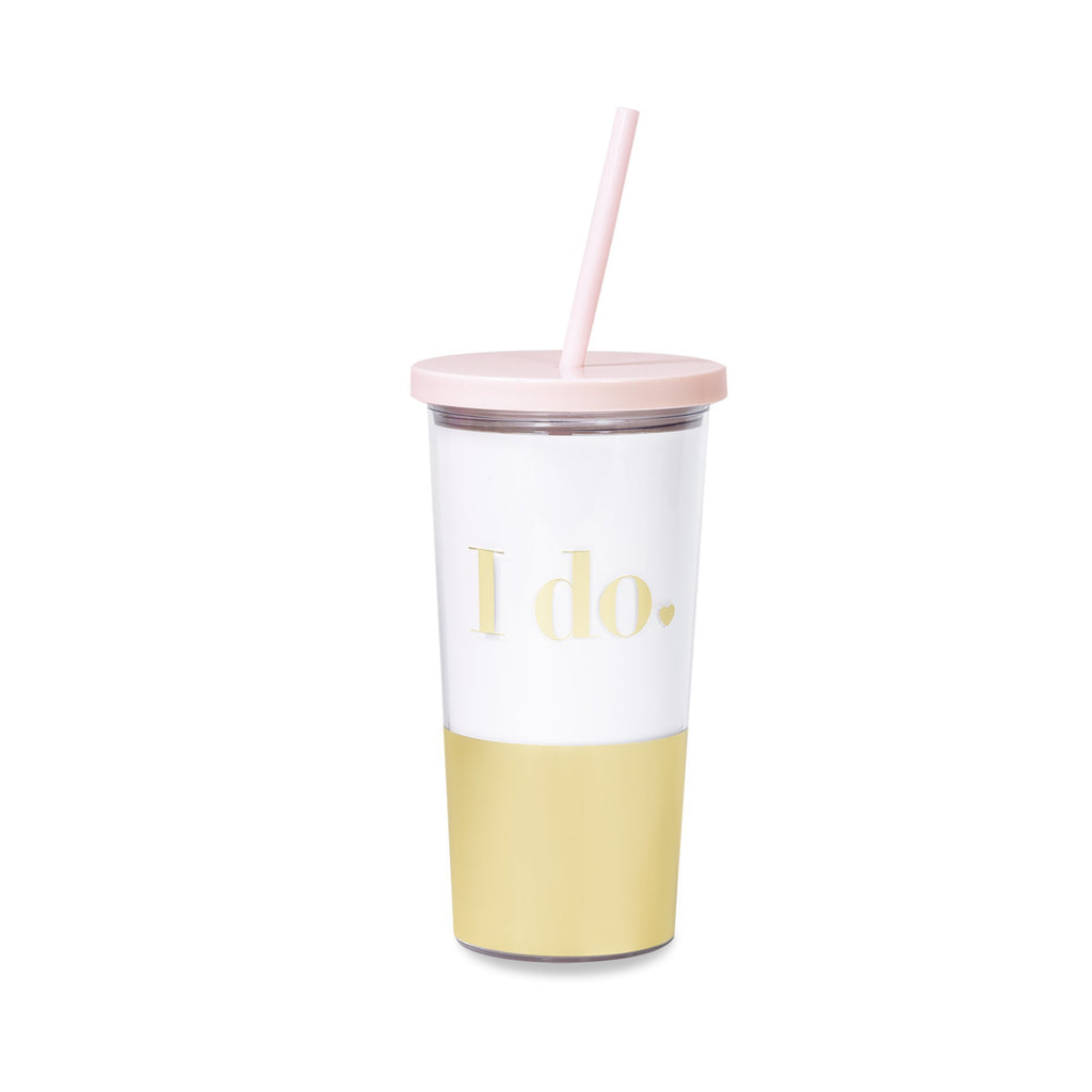 kate spade new york tumbler with straw, i do