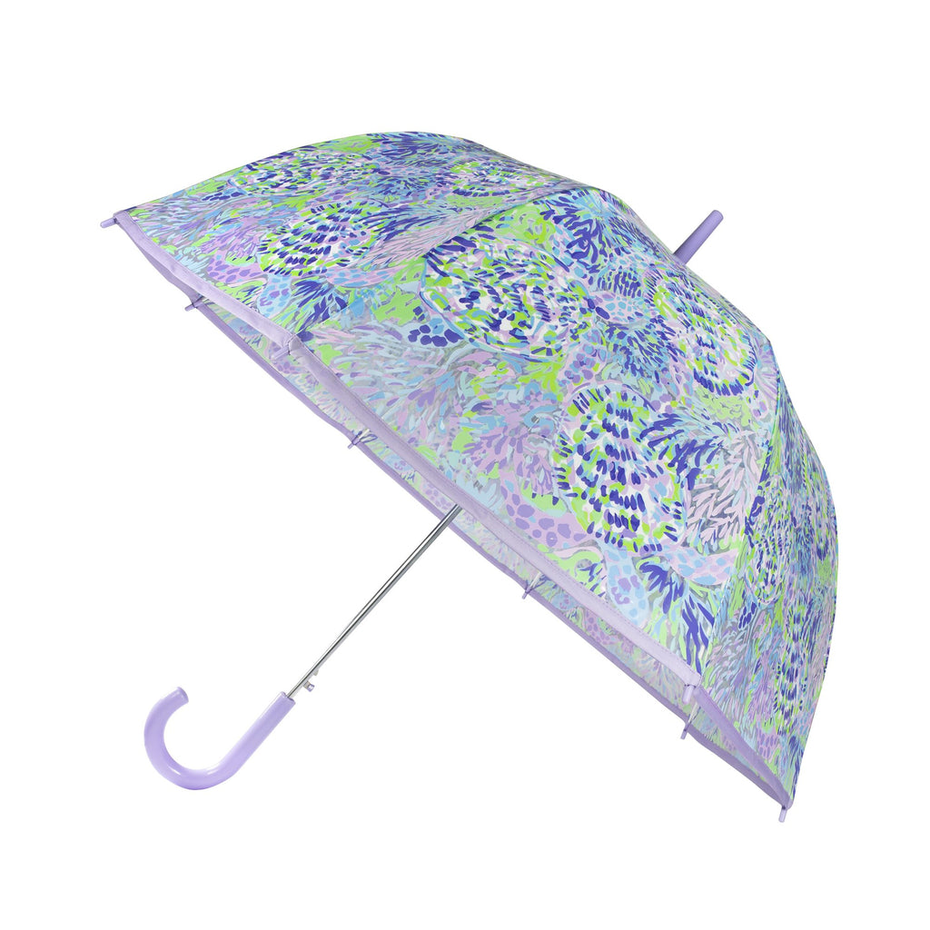 Lilly Pulitzer Clear Umbrella, Shell of a Party