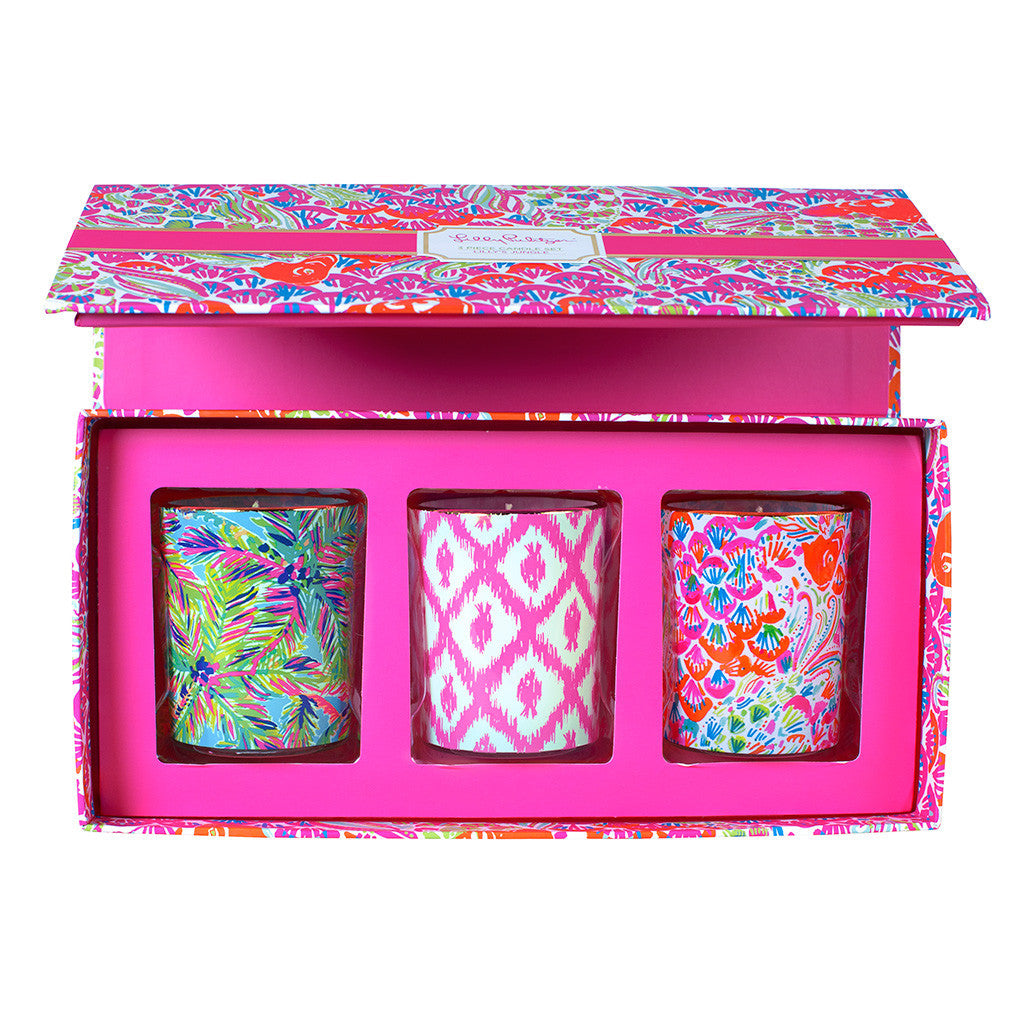 Lilly Pulitzer Votive Candle Set - I'm So Hooked - lifeguard-press - 1