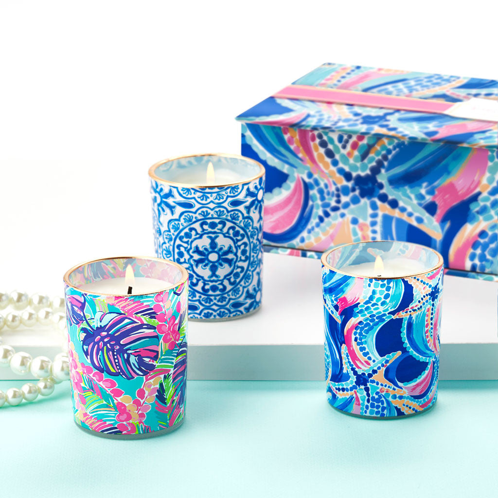 Lilly Pulitzer Votive Candle Set - I'm So Hooked - lifeguard-press - 2