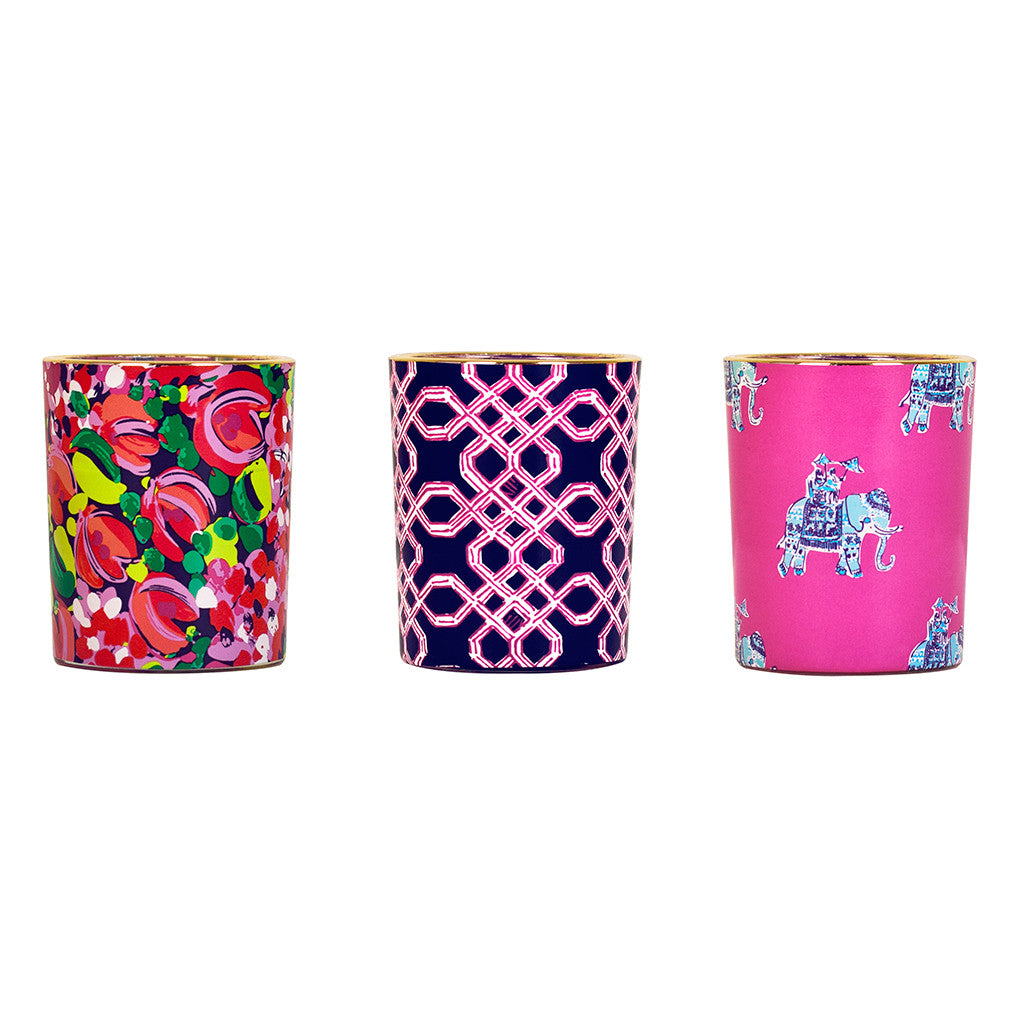 Lilly Pulitzer Votive Candle Set - Wild Confetti - lifeguard-press