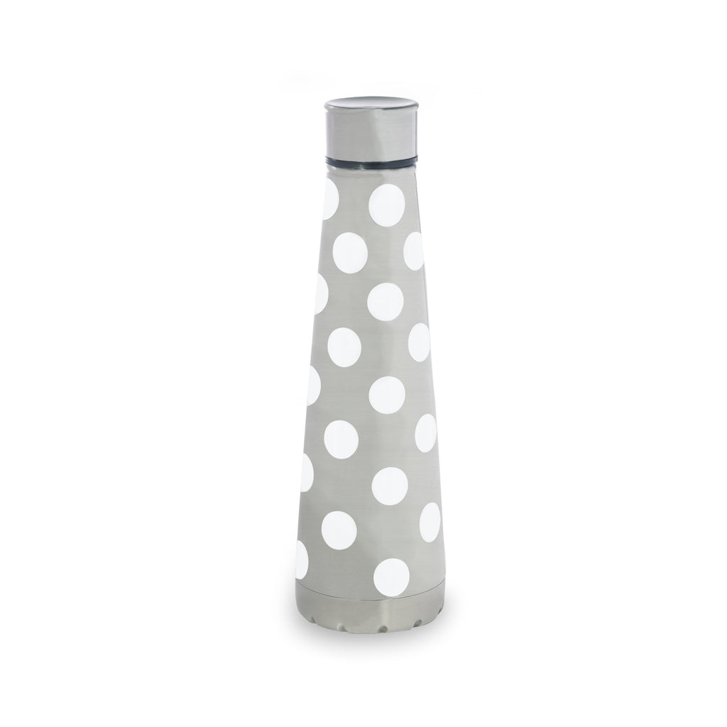 kate spade new york stainless steel water bottle, white dot