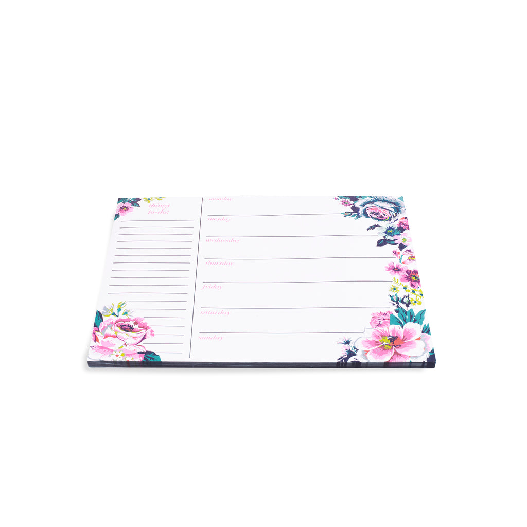 vera bradley weekly to-do notepad, garden grove