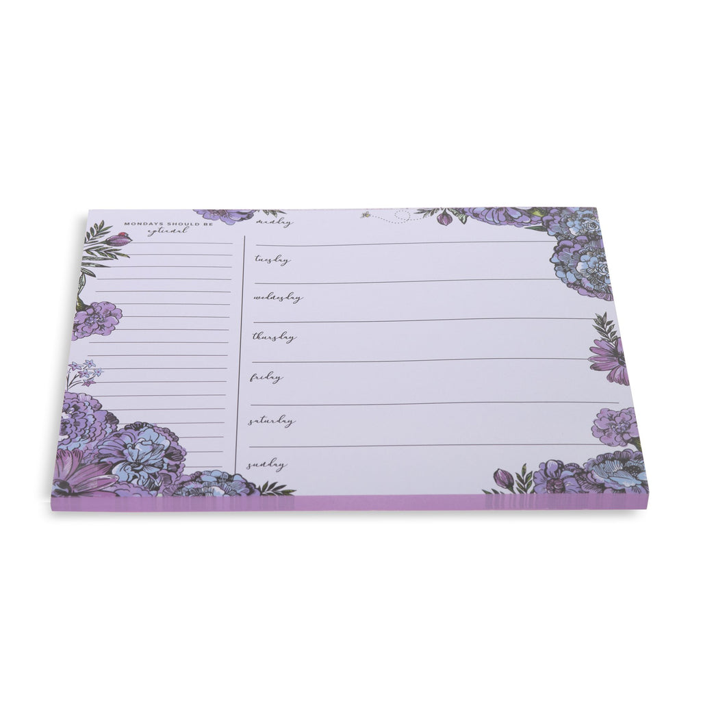 Vera Bradley Weekly To Do List Pad, Lavender Meadow