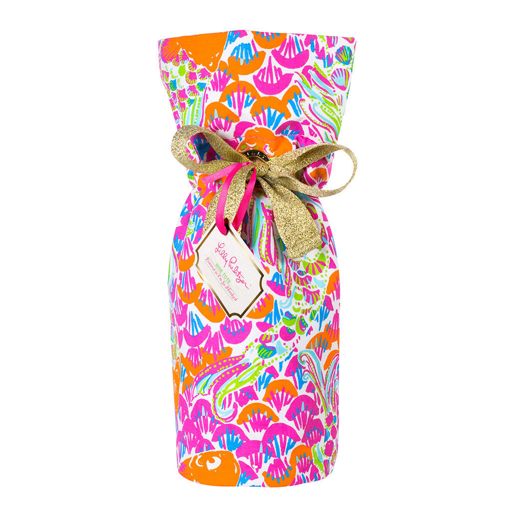 Lilly Pulitzer Wine Tote - I'm So Hooked - lifeguard-press - 1