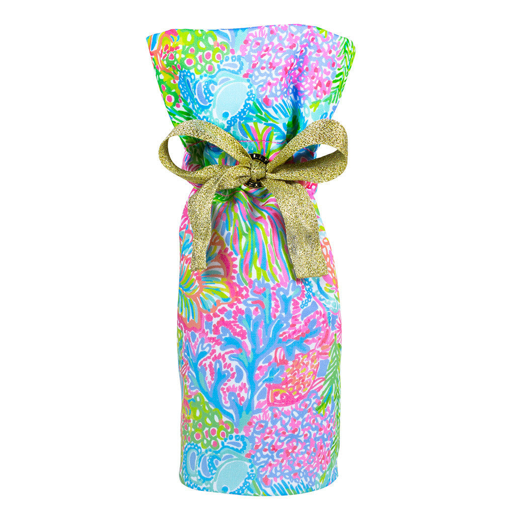 Lilly Pulitzer Wine Tote - Lover's Coral - lifeguard-press - 1