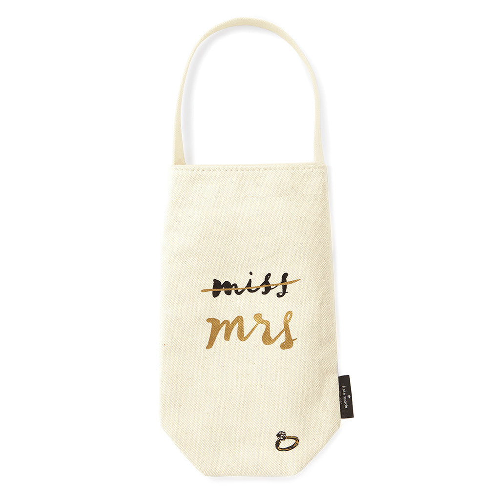 kate spade new york wine tote - miss to mrs. - lifeguard-press