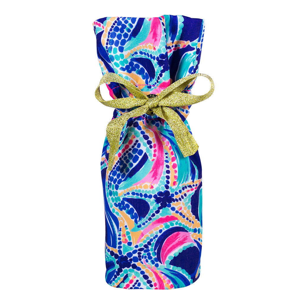 Lilly Pulitzer Wine Tote - Ocean Jewels - lifeguard-press - 1
