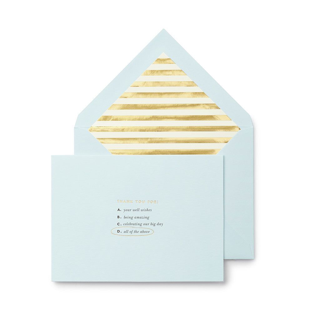 kate spade new york bridal note card set - all of the above - lifeguard-press
