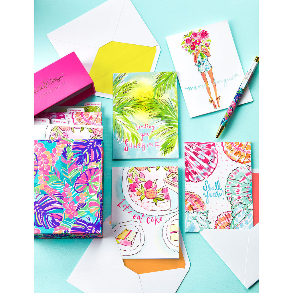 Lilly Pulitzer Assorted Notecard Set - lifeguard-press - 5